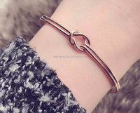 2017 new arrival rose gold kotted bangle bracelet