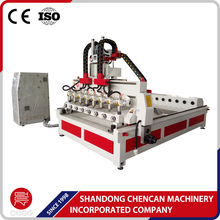 big size multi head spindle 3d cnc router combined wood machine