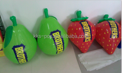 pvc inflatable strawberry fruit for promotion