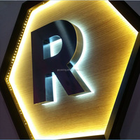 Customized desgin stainless steel led alphabet letter baqcklit letter