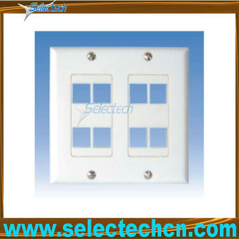 Blank RJ45 RJ11 faceplate wall Network Panel