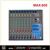 MAX-800 Professional 8 Channel Sound Power Amplifier Mixer
