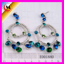 ALIBABA 2015 NEWEST CRYSTAL FASHION PEACOCK DESIGN EARRINGS