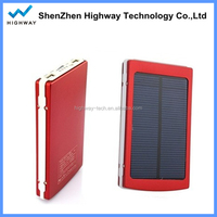Portable 10000mAh Micro USB Mobile Phone Solar Charger External Backup Battery Charger for ipad/iphone/laptop/MP3/PDA ect