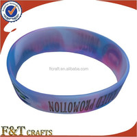 custom cheapest round beautiful rainbow sport fitness control rubber silicon ion sport bracelet