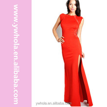 2016 Latest Wholesale Cheap Red Long Maxi Women Party Wear Dress Patterns