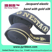 High quality silver jacquard elastic band for boxer