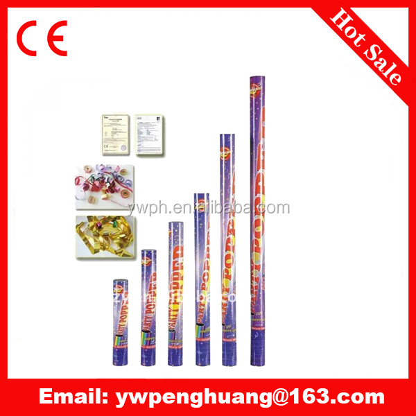compressed air party popper iron bottle