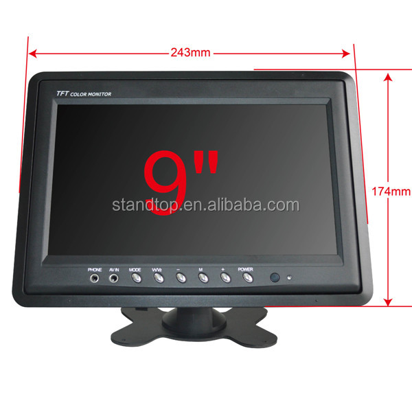 9 inch HD cctv lcd monitor from China manufacture