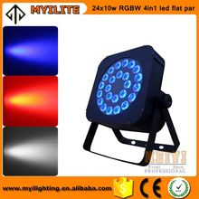 Hot sell 24pcs LED 10W RGBW 4in1 Tianxin Brand LED Flat Par Light for Wedding
