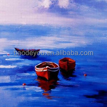 china factory home decoration landscape canvas oil painting boats