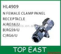 N FEMALE CLAMP PANEL RECEPTACLE HL4909