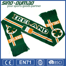 Satin Printing World Cup Sports Team Promotional Football Fan Scarf