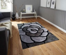 3D design modern shaggy carpets and rugs living room