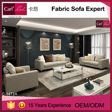 Great comfort 2 seater polyester fabric for sofa for Living Room Sofa