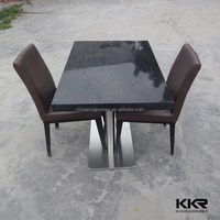 modern artificial granite solid surface restaurant table top