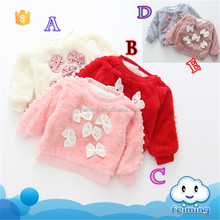 wholesale high quality cotton apparel round neck autumn garment baby girl t-shirt