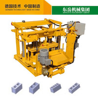 Dongyue Moving Manual Egg Laying Brick Machine QT40-3A Mobile Hollow Block Machine Price on Sale
