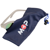 Factory Supplied Soft Microfiber Eyeglass Case with Button
