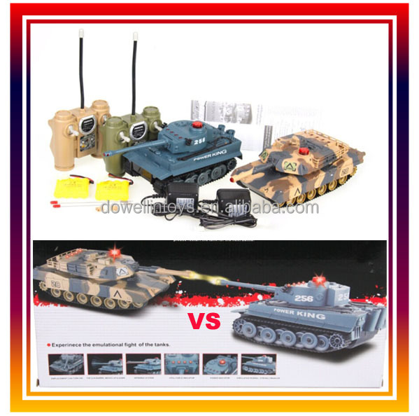 Abrams vs. Tiger Combat Fight Tanks 1/32 Infrared 3 Channel RC Simulation Battle Tank