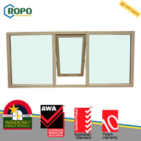 Latest Modern Plastic Glass Awning Window Price