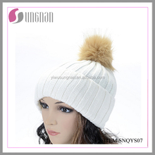 YIWU factory customize multi-color beanies with pom-pom acrylic knitted beanies