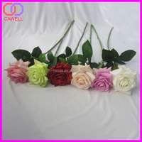 factory direct natural touch long single stem multi colored latex artificial rose flower