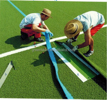 Wuxi Green Lawn green backing non-infill soccer artificial turf