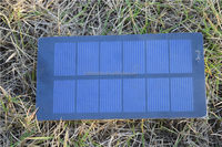 Custom made cheap price 62*120mm PET mini solar panel with connector