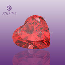 China 8mm decoration red gemstone small glass hearts