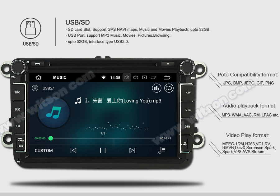 WITSON ANDROID 8.0 AUTO RADIO DVD PLAYER GPS FOR OPEL INSIGNIA 2008 2011
