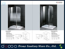 Folding Glass Bath Shower Screen Decoration