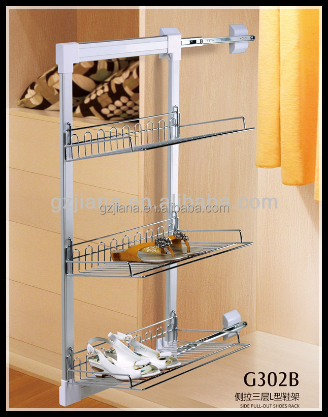 Closet Hardware Side Pull Out Shoe Rack For Storage Shoes   Buy Pull Out  Shoe Rack,Shoe Rack,Pull Out Rack Product On Alibaba.com
