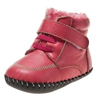BB-C3808-WR first walking shoes soft sole leather baby shoe/boots