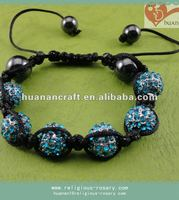 Blue fashion accessories bracelet shamballa for women