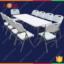 wholesale outdoor plastic material cheap but high quality banquet event specific use 8ft folding solid trestle table for restaur