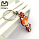 Different color pvc rubber silicone keychain 3d soft pvc keychain
