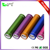 Electronics Portable Power Bank With Cylindrical Design