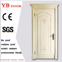 Teak french style iran arched unique door designs modern entrance wooden single door YBVD-6168