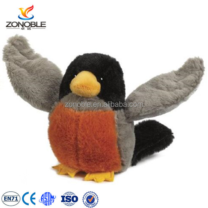 New design cute colourful stuffed flying bird soft animal toy customized cuddly plush bird for sale