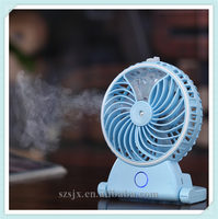 2016 New Model Portable Rechargeable Desktop Mini Cooling Humidifier Fan, Mini Water Air Mist Spray Fan