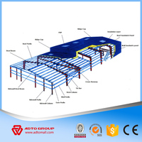 Large Span Steel Building WIth Drawings Low Cost And Fast Assembling Prefabricated Steel Structure Warehouse/Workshop