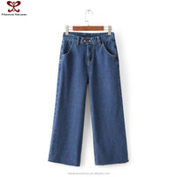2016 Fashion High Waisted Wide Leg Straight Denim Jeans Wholesale, Jeans New Designs Photos