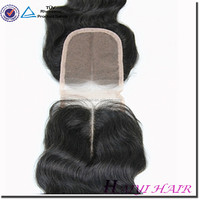 Straight remy 3 part silk base lace closure silk base closure with baby hair