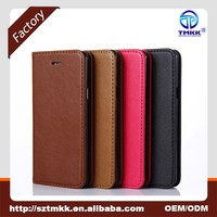 Amazon Hot Sale Sheep Skin Pattern Strong Magnet Stand & Card Slots Flip Book Design Leather Wallet Flip Case for iPhone 7