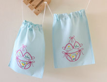 Beautiful Embroideried Silk Satin Lingerie Bag