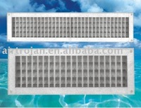 PVC Plastic Double Deflection Air Diffuser, Air Grille, Air Louver