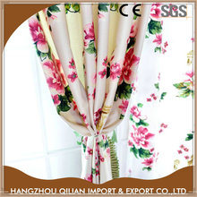 Beautiful big flower printed material for curtains