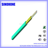 Multiple mode OM4 flat ribbon indoor fiber optic cable