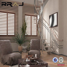 Adjustable contemporary designs pine wood blinds for windows
